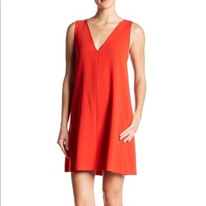 NWT Theory Admiral Crepe V-Neck Shift Dress Red S